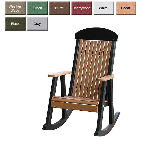 Outdoor Poly Furniture Luxury Poly PRCHR HighBack Porch