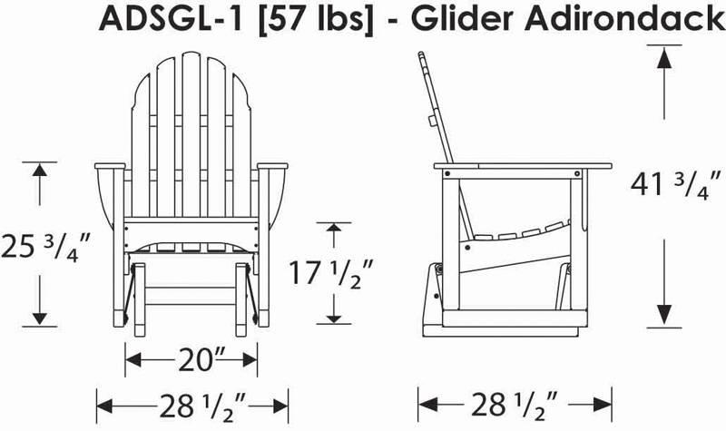 POLYWOOD ADSGL1 Adirondack Glider Chair POLYWOOD Furniture