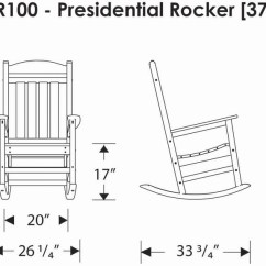 Polywood Adirondack Chairs Office Chair Replacement Arms Polywood® R100 Presidential Rocking Chair: Furniture