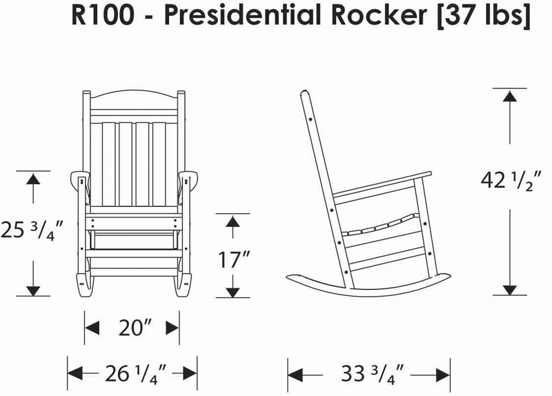 polywood adirondack chairs antique koken barber chair for sale polywood® r100 presidential rocking chair: furniture
