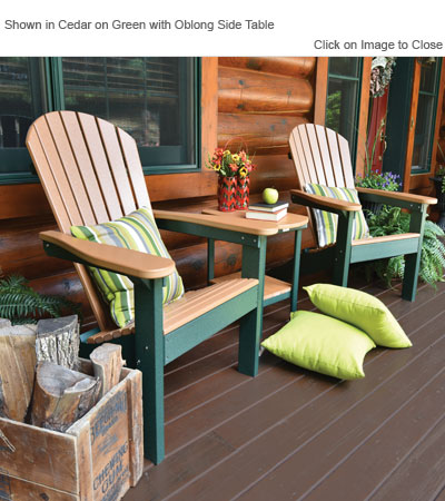 Outdoor Poly Furniture Amish PATC2400 ComfoBack