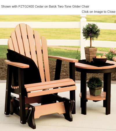 Outdoor Poly Furniture Amish PRET2122 Round Side Table
