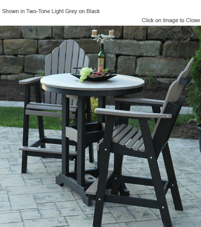 Outdoor Poly Furniture Amish GCRC2135 CoziBack Bar