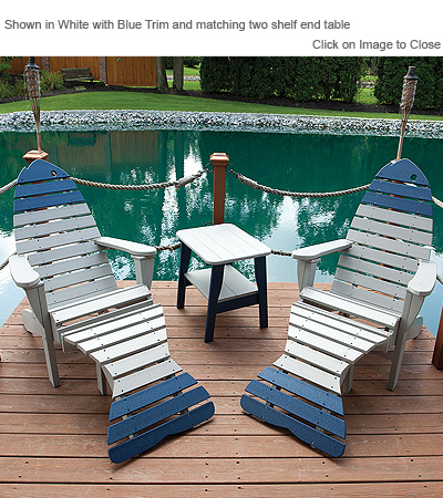 Outdoor Poly Adirondack Fish Chairs On Sale