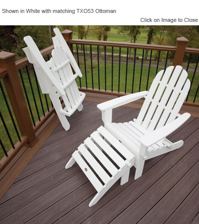 trex adirondack rocking chairs big office uk txa53 cape cod folding chair polywood furniture