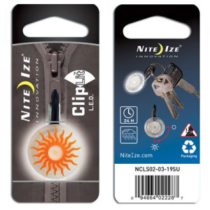 Nite Ize Cliplit orange sun white LED