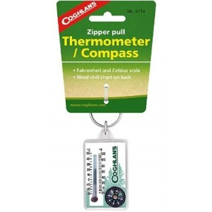 Coghlan's Zipper Pull Thermometer Compass