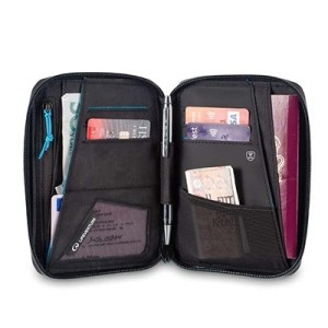 Lifeventure RFID Mini Document Wallet black