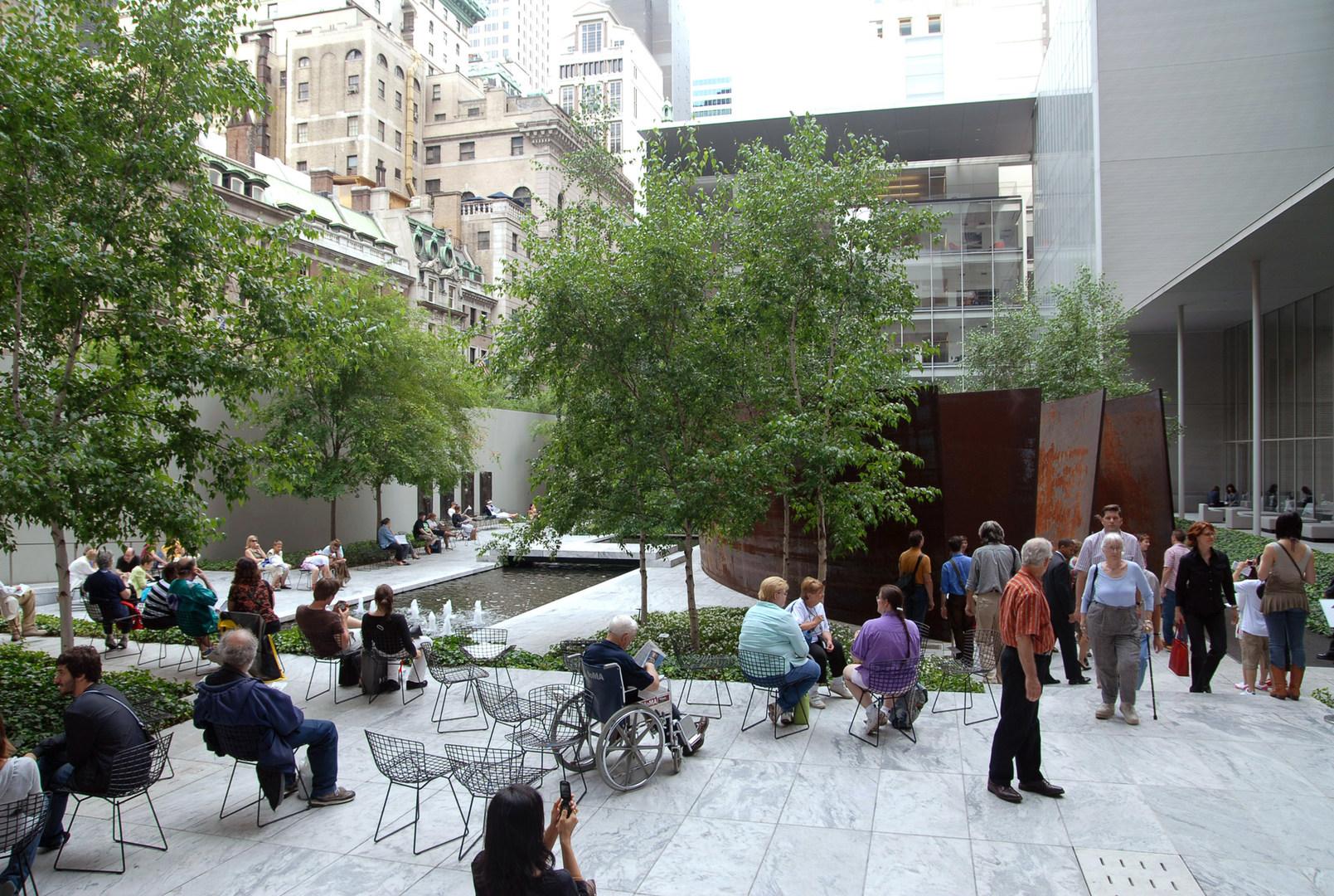 Museum Of Modern Art Moma Courtyard - Midtown Manhattan