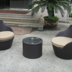 Rattan Indoor Sofa Bed Cheap Large Leather Corner Dark Brown Resin Wicker Obelisk Chair , Bullet Set