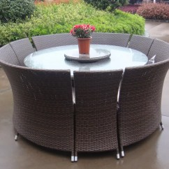 Outdoor Rattan Wicker Sofa Sectional Patio Furniture Set Soft Covers Garden Dining Sets All Weather Waterproof