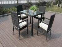 Outdoor Patio Furniture Chair Set , Aluminum Frame Dining ...