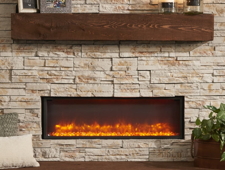 Gallery Linear Built In Electric Fireplace  The Outdoor