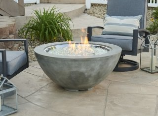 natural grey cove 42 round gas fire pit bowl