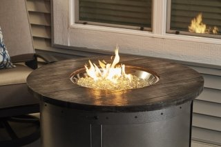 Edison Round Gas Fire Pit Table  The Outdoor Greatroom