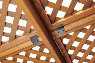 Redwood Wood Lattice For 12 X 16 Sonoma Pergola The