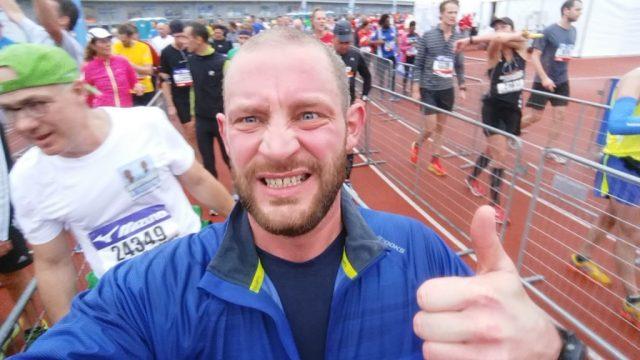 Zieleinlauf Halbmarathon Amsterdam