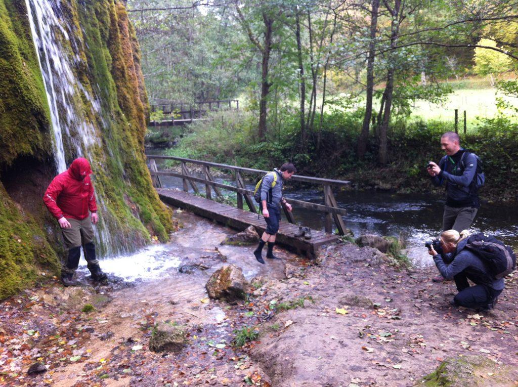 Fotoshooting am Dreimühlen-Wasserfall