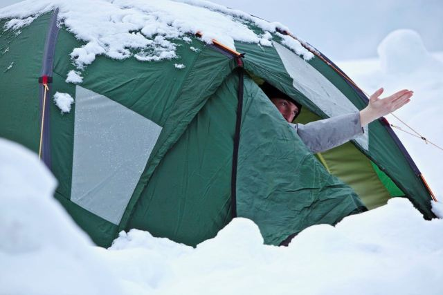 Camping im Winter