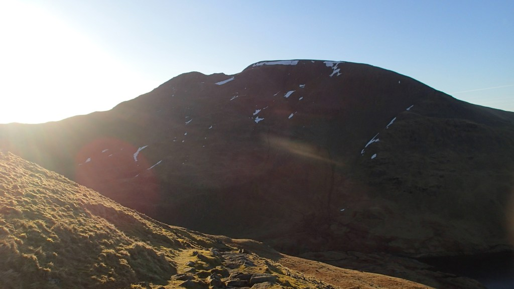 Exposed ridge in the Lake District