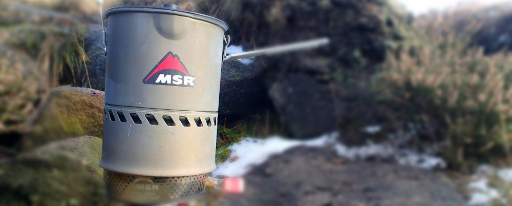 MSR Reactor boiling water on a cold wintery day