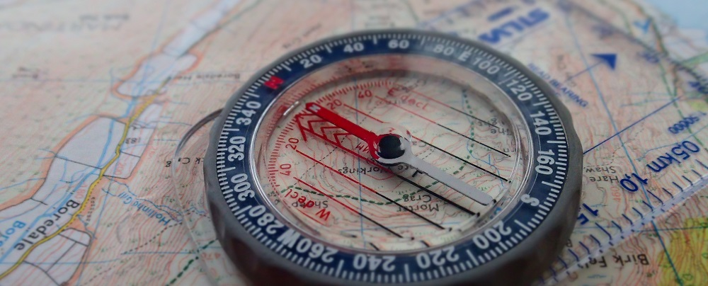 navigate with a compass and map