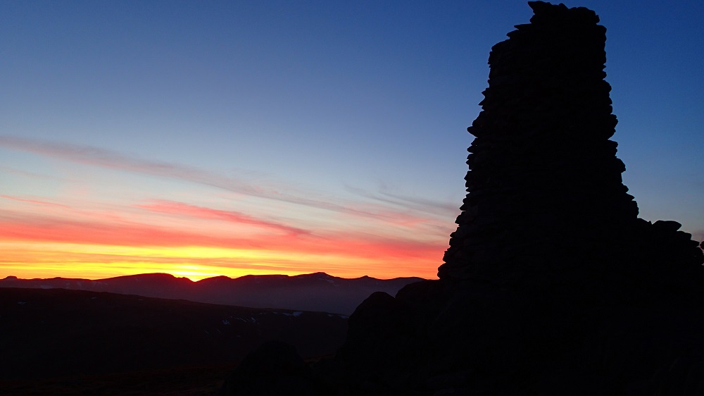 Amazing sunset on Thornthwaite Crag