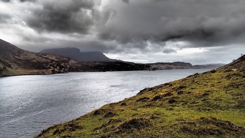 Wet morning over Loch Glencoul