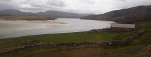 The kyle of Durness looking calm just before becoming unpassable