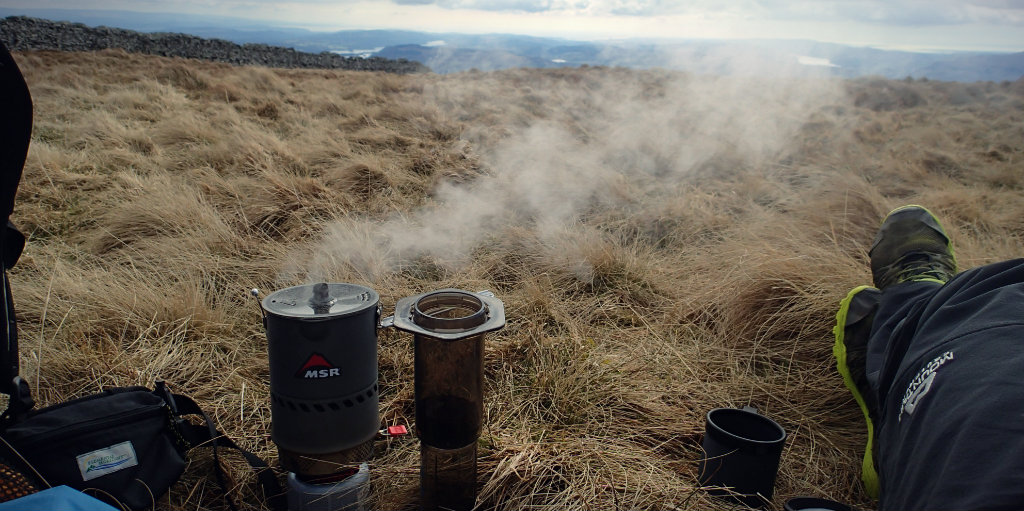 Coffee the way it should be enjoyed - outdoors