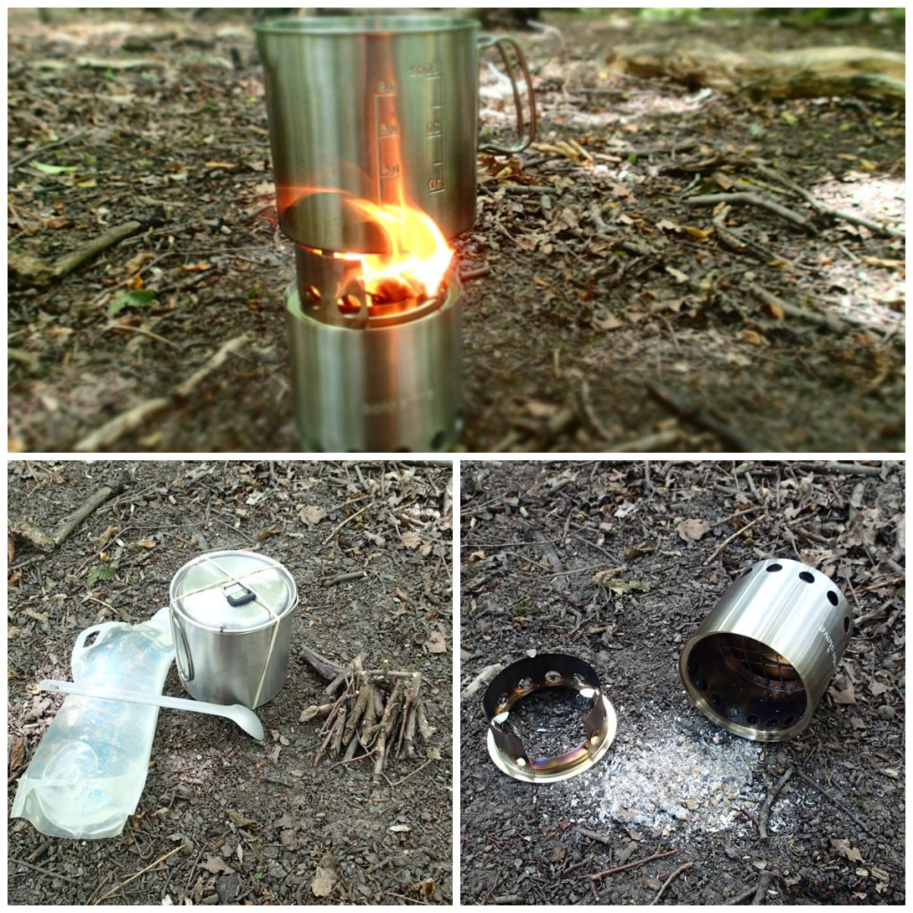 Wood backpacking stove