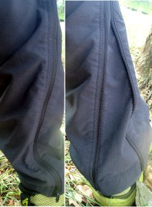 Zippers to have a straight leg or tapered