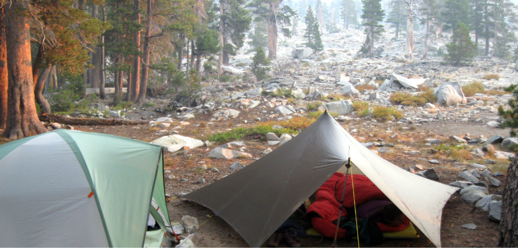 Camping in the Desolation Wilderness, USA