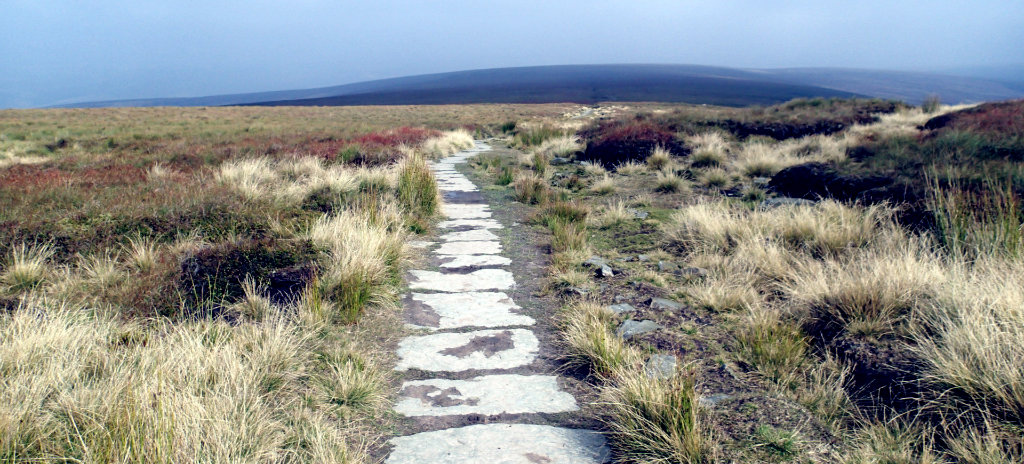 Organized trail section of the Pennine
