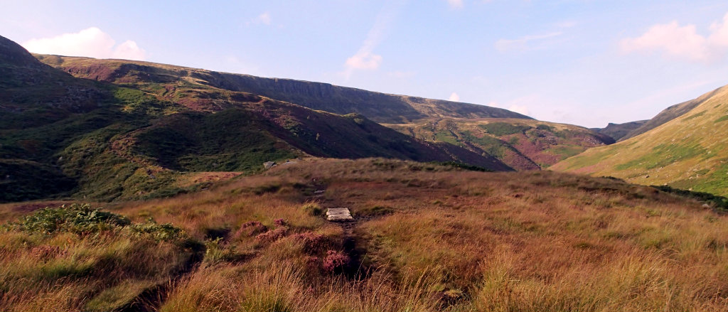 The climb up to Laddow Moss