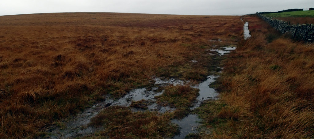 Leaving Clogger Lane onto a very wet and very boggy trail to Thornton-in-Craven