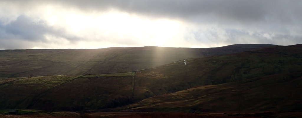 Sun after the storm in the Pennine Way