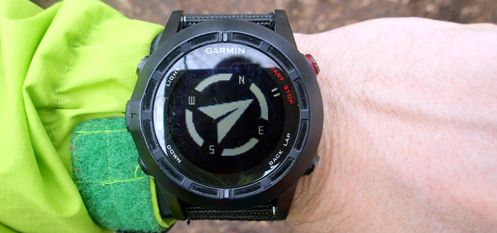 Outdoors watch's basic function: compass