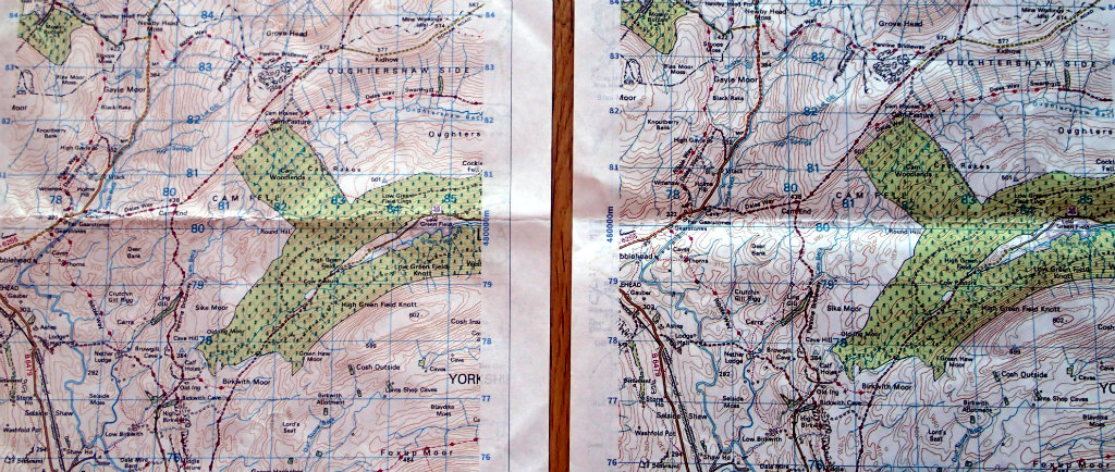 Printing maps with Laser (right) vs Inkjet (left)