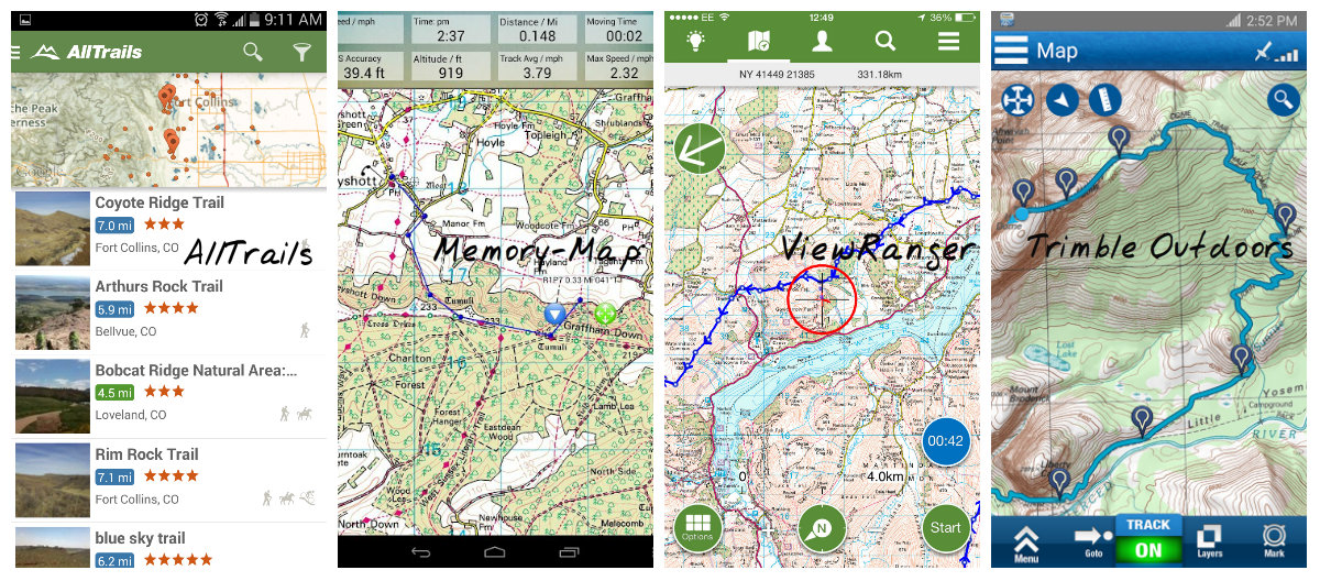 A host of navigation apps