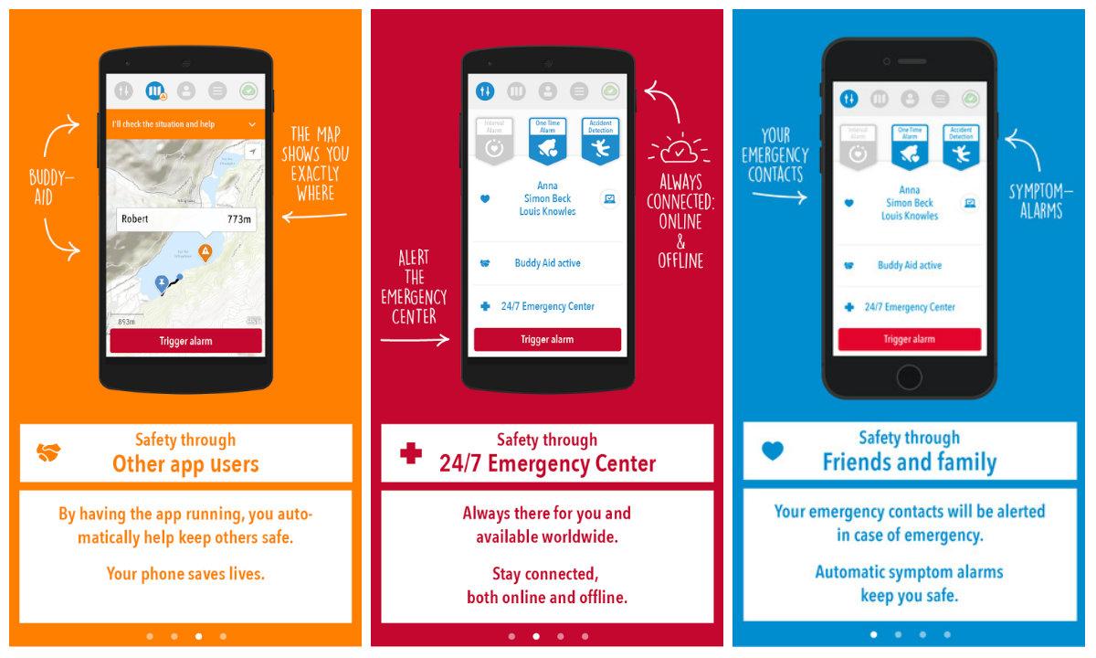 Uepaa! app for emergency signals