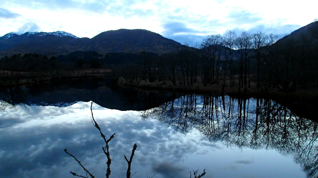 Nearing Glenfinnan in the dying light