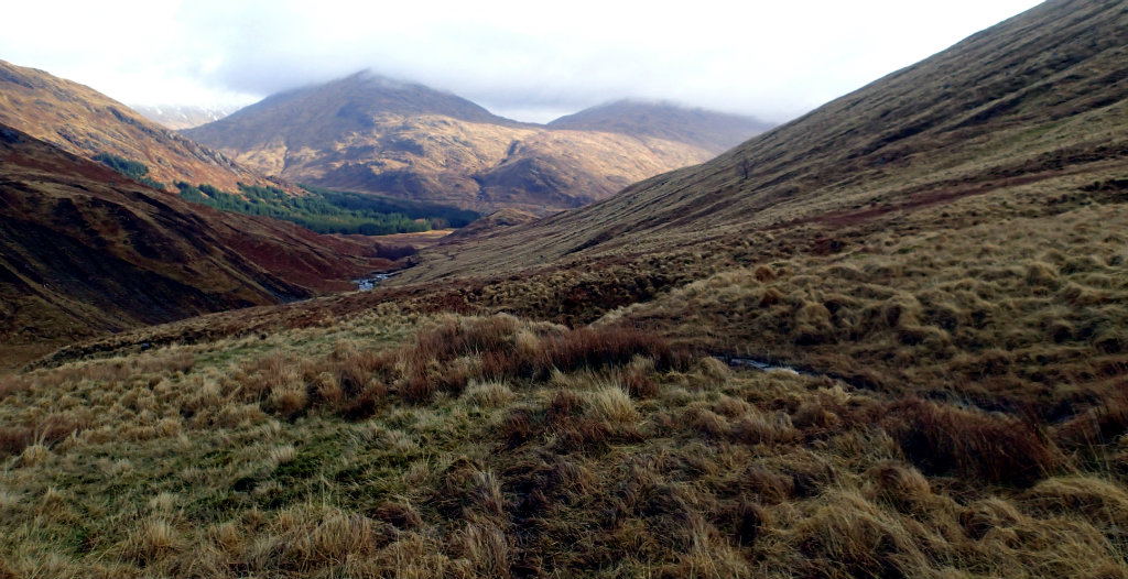 The descent to Glen Pean