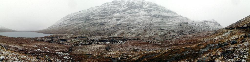 Beinn Dronaig in the heavy snow