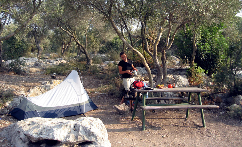 A very typical Israeli campsite - the table was a bonus
