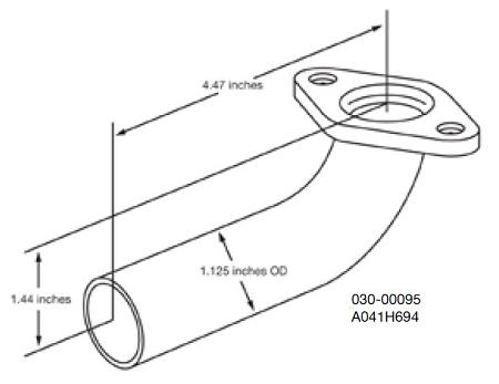 Generator Exhaust Pipe; Cummins Onan
