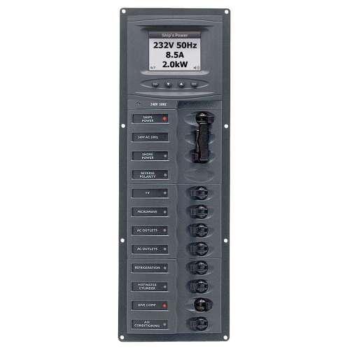 small resolution of ac circuit breaker panel w digital meters 8sp 2dp ac230v 240 volt breaker wiring diagram electrical