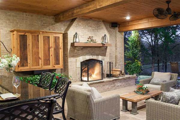 outdoor living space with fireplace Swimming Pools - Outdoor Living Spaces - Outdoor Solutions
