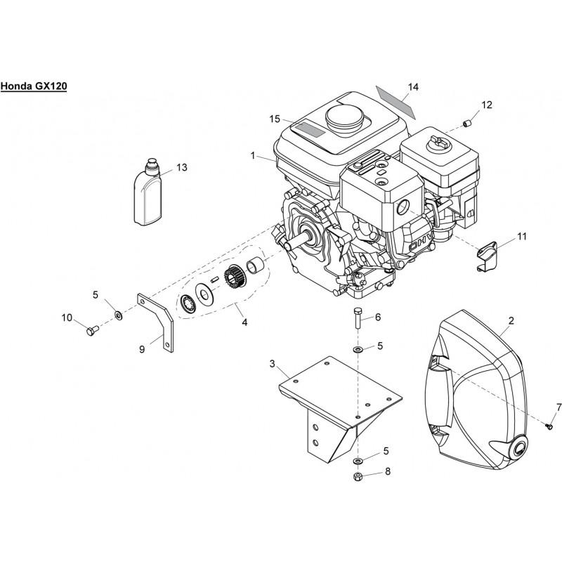 Belle Minimix 150 Engine Pulley Kit Fits M54 900/31000