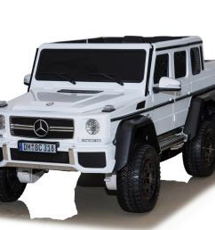licensed mercedes benz g63 6x6 24v ride on electric jeep white for just 269 95 outdoor toys [ 1351 x 1200 Pixel ]